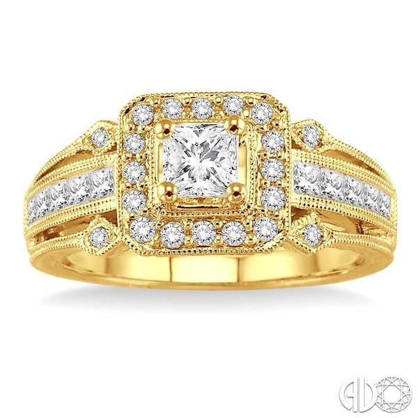 1/2 Ctw Diamond Semi-Mount Engagement Ring in 14K Yellow Gold Image 2 Becker's Jewelers Burlington, IA