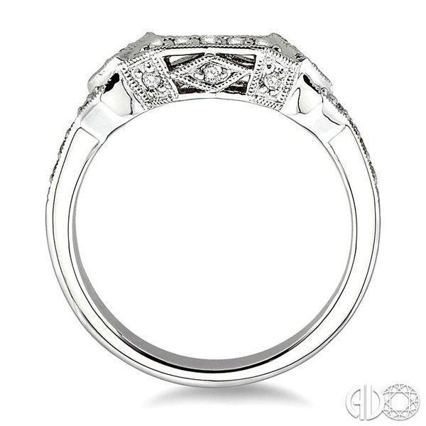 1/5 Ctw Diamond Matching Wedding Band in 14K White Gold Image 3 Becker's Jewelers Burlington, IA