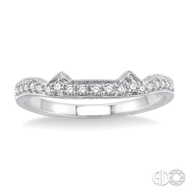 1/5 Ctw Diamond Matching Wedding Band in 14K White Gold Image 2 Becker's Jewelers Burlington, IA