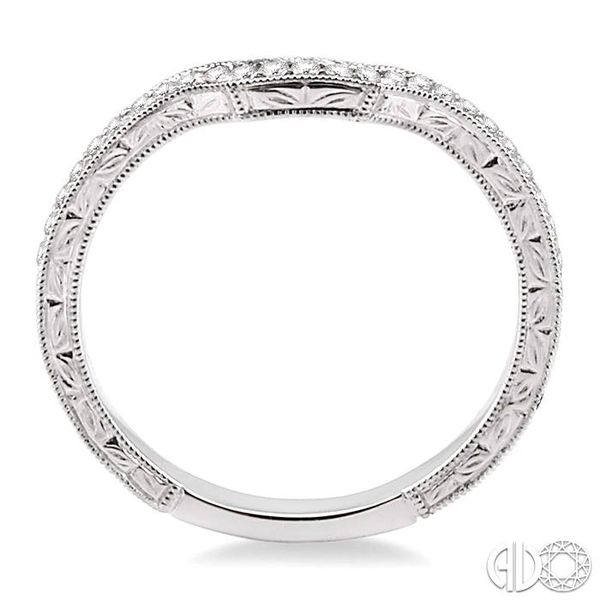 1/6 Ctw Round Cut Diamond Matching Wedding Band in 14K White Gold Image 3 Becker's Jewelers Burlington, IA
