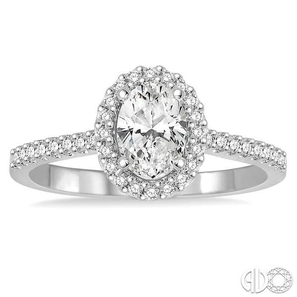 1/4 Ctw Round Cut Diamond Semi-Mount Engagement Ring in 14K White Gold Image 2 Becker's Jewelers Burlington, IA