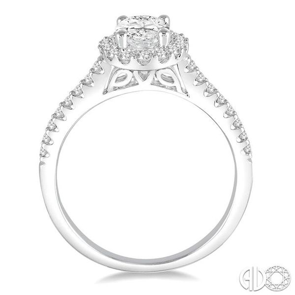 1/4 Ctw Round Cut Diamond Semi-Mount Engagement Ring in 14K White Gold Image 3 Becker's Jewelers Burlington, IA