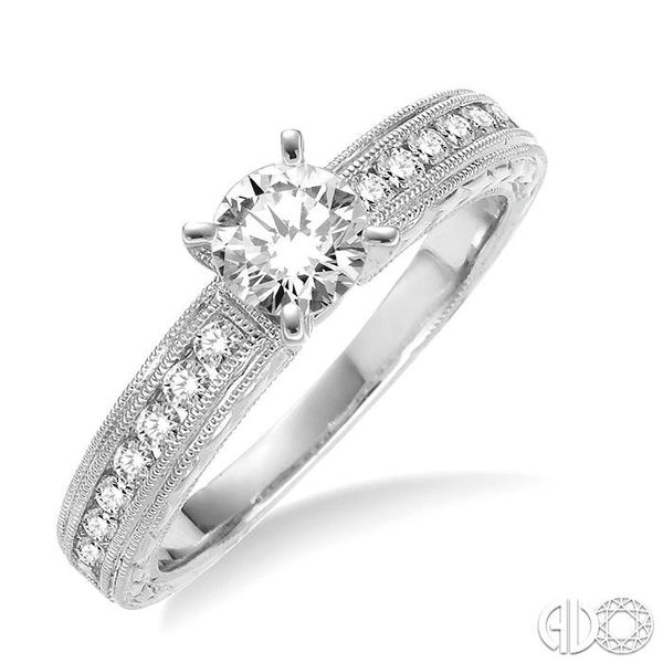 3/8 Ctw Round Diamond Semi-Mount Engagement Ring in 14K White Gold Becker's Jewelers Burlington, IA