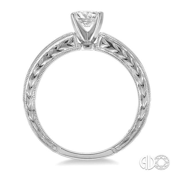 3/8 Ctw Round Diamond Semi-Mount Engagement Ring in 14K White Gold Image 3 Becker's Jewelers Burlington, IA