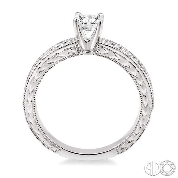 1/5 Ctw Round Cut Diamond Semi-Mount Engagement Ring in 14K White Gold Image 3 Becker's Jewelers Burlington, IA