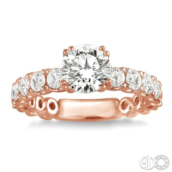 5/8 Ctw Diamond Semi-Mount Engagement Ring in 14K Rose Gold Image 2 Becker's Jewelers Burlington, IA