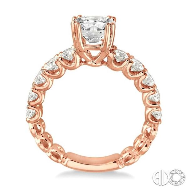 5/8 Ctw Diamond Semi-Mount Engagement Ring in 14K Rose Gold Image 3 Becker's Jewelers Burlington, IA
