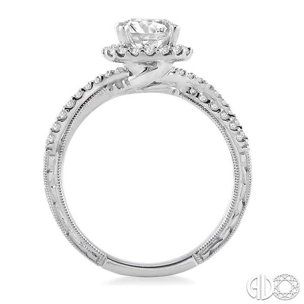7/8 Ctw Diamond Engagement Ring with 1/2 Ct Round Cut Center Stone in 14K White Gold Image 3 Becker's Jewelers Burlington, IA