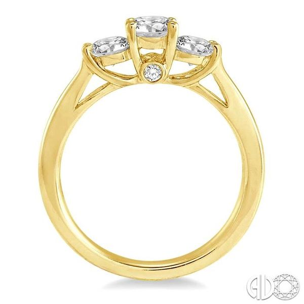 1 Ctw Diamond Engagement Ring with 3/8 Ct Round Cut Center Stone in 14K Yellow Gold Image 3 Becker's Jewelers Burlington, IA