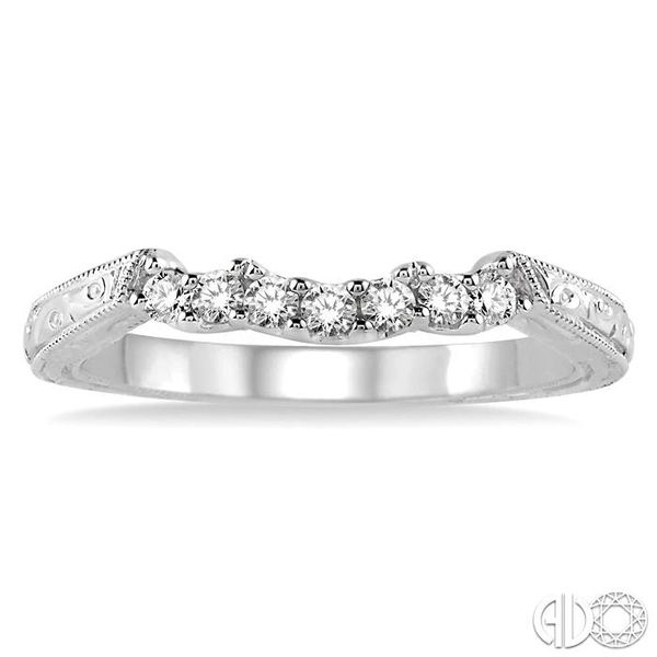 1/5 Ctw Round Cut Diamond Wedding Band in 14K White Gold Image 2 Becker's Jewelers Burlington, IA