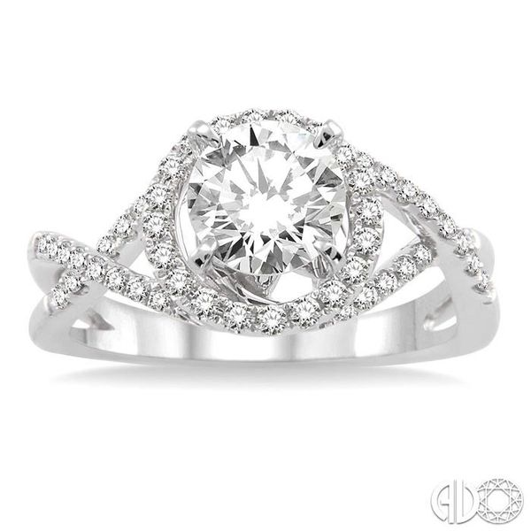1/3 Ctw Diamond Semi-Mount Engagement Ring in 14K White Gold Image 2 Becker's Jewelers Burlington, IA
