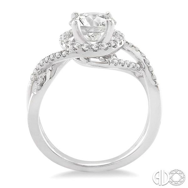 1/3 Ctw Diamond Semi-Mount Engagement Ring in 14K White Gold Image 3 Becker's Jewelers Burlington, IA