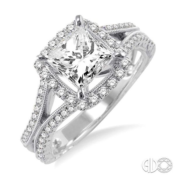 1/2 Ctw Diamond Semi-Mount Engagement Ring in 14K White Gold Becker's Jewelers Burlington, IA