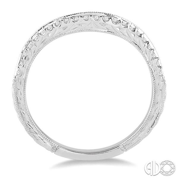 1/5 Ctw Round Cut Diamond Wedding Band in 14K White Gold Image 3 Becker's Jewelers Burlington, IA
