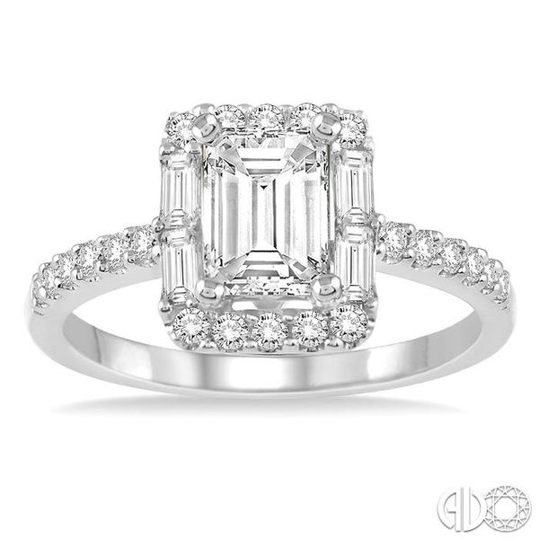 1/2 Ctw Diamond Semi-mount Engagement Ring in 14K White Gold Image 2 Becker's Jewelers Burlington, IA