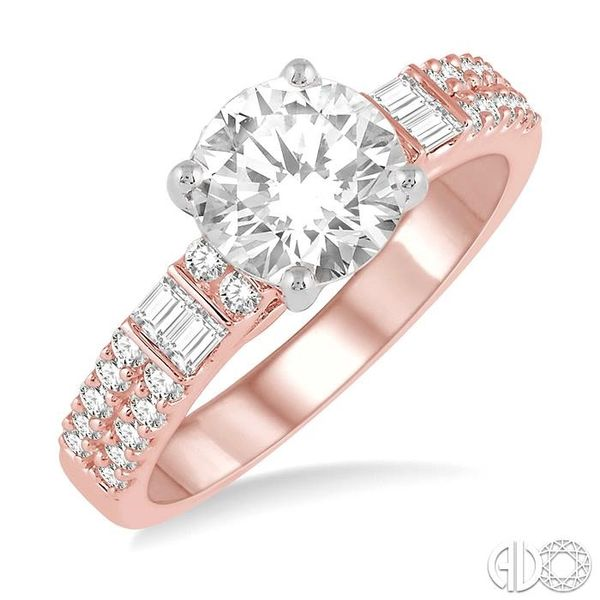 1/2 Ctw Semi-Mount Diamond Engagement Ring in 14K Rose and White Gold Becker's Jewelers Burlington, IA