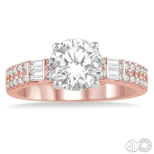 1/2 Ctw Semi-Mount Diamond Engagement Ring in 14K Rose and White Gold Image 2 Becker's Jewelers Burlington, IA