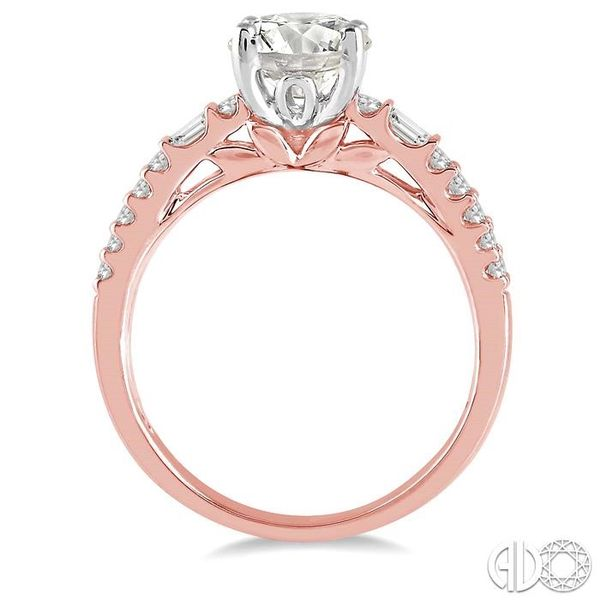 1/2 Ctw Semi-Mount Diamond Engagement Ring in 14K Rose and White Gold Image 3 Becker's Jewelers Burlington, IA
