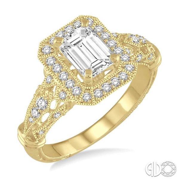 1/3 Ctw Round Cut Diamond Semi-Mount Engagement Ring in 14K Yellow Gold Becker's Jewelers Burlington, IA