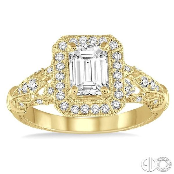 1/3 Ctw Round Cut Diamond Semi-Mount Engagement Ring in 14K Yellow Gold Image 2 Becker's Jewelers Burlington, IA