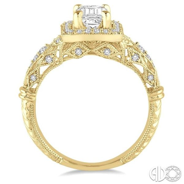 1/3 Ctw Round Cut Diamond Semi-Mount Engagement Ring in 14K Yellow Gold Image 3 Becker's Jewelers Burlington, IA