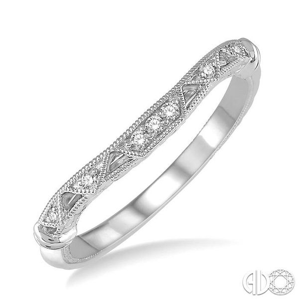 1/20 Ctw Vintage Inspired Round Diamond Wedding Band in 14K White Gold Becker's Jewelers Burlington, IA
