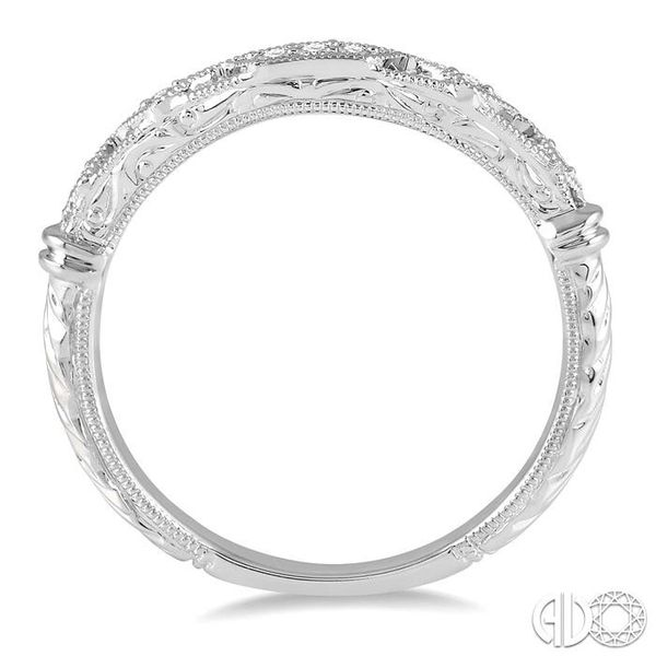 1/20 Ctw Vintage Inspired Round Diamond Wedding Band in 14K White Gold Image 3 Becker's Jewelers Burlington, IA