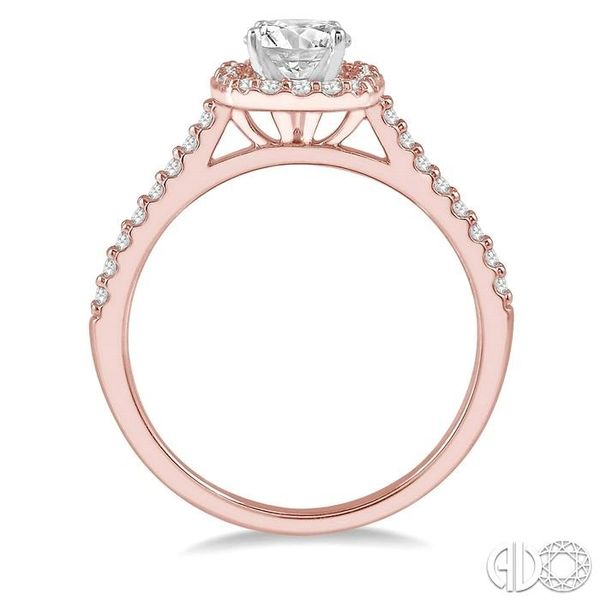 1/4 Ctw Square Shape Diamond Semi-Mount Engagement Ring in 14K Rose and White Gold Image 3 Becker's Jewelers Burlington, IA