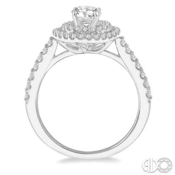 1 Ctw Diamond Ladies Engagement Ring with 1/2 Ct Round Cut Center Stone in 14K White Gold Image 3 Becker's Jewelers Burlington, IA