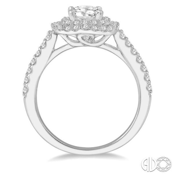 1 Ctw Round Cut Center Stone Diamond Ladies Engagement Ring in 14K White Gold Image 3 Becker's Jewelers Burlington, IA