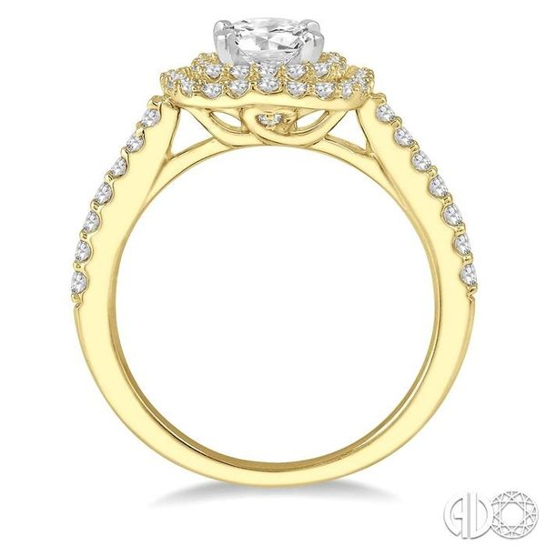 1 Ctw Round Cut Center Stone Diamond Ladies Engagement Ring in 14K Yellow and White Gold Image 3 Becker's Jewelers Burlington, IA