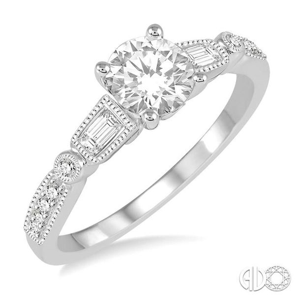 1/5 Ctw Diamond Semi-Mount Engagement Ring in 14K White Gold Becker's Jewelers Burlington, IA