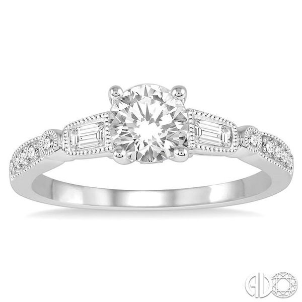 1/5 Ctw Diamond Semi-Mount Engagement Ring in 14K White Gold Image 2 Becker's Jewelers Burlington, IA