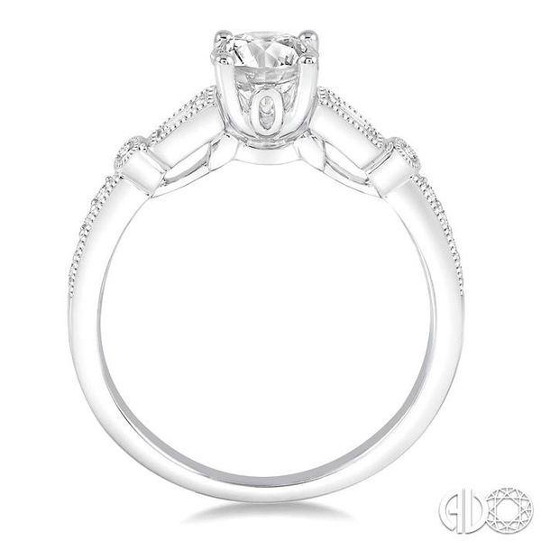 1/5 Ctw Diamond Semi-Mount Engagement Ring in 14K White Gold Image 3 Becker's Jewelers Burlington, IA