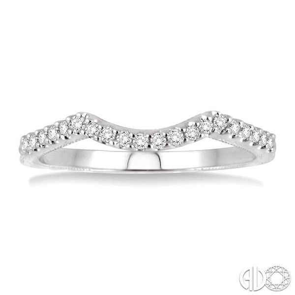 1/6 Ctw Round Cut Diamond Matching Wedding Band in 14K White Gold Image 2 Becker's Jewelers Burlington, IA