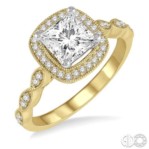 1/5 ctw Semi-Mount Round Cut Diamond Engagement Ring in 14K Yellow and White Gold Becker's Jewelers Burlington, IA