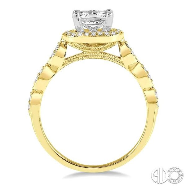 1/5 ctw Semi-Mount Round Cut Diamond Engagement Ring in 14K Yellow and White Gold Image 3 Becker's Jewelers Burlington, IA