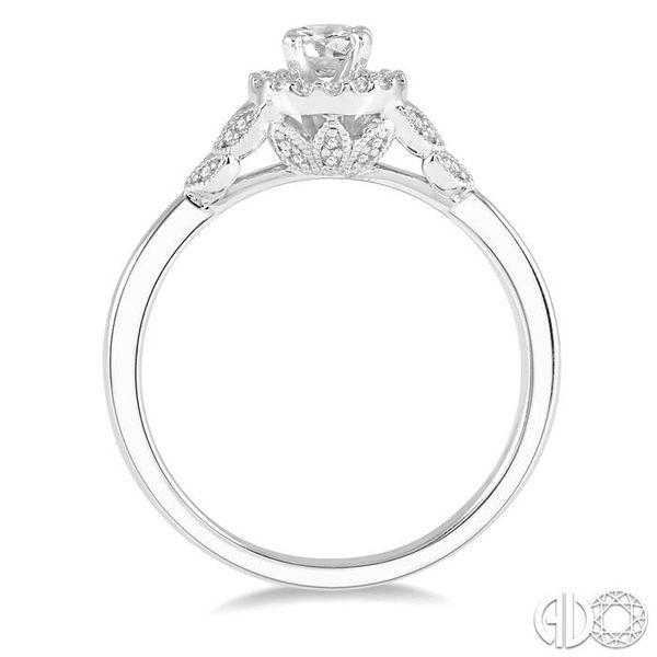 1/6 Ctw Entwined Round Shape Semi-Mount Diamond Engagement Ring in 14K White Gold Image 3 Becker's Jewelers Burlington, IA