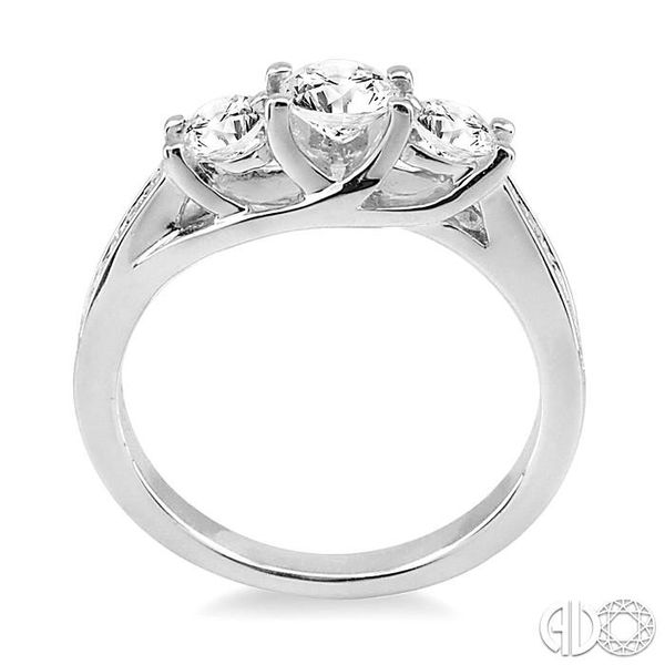 1 Ctw Diamond Engagement Ring with 3/8 Ct Round Cut Center Stone in 14K White Gold Image 3 Becker's Jewelers Burlington, IA