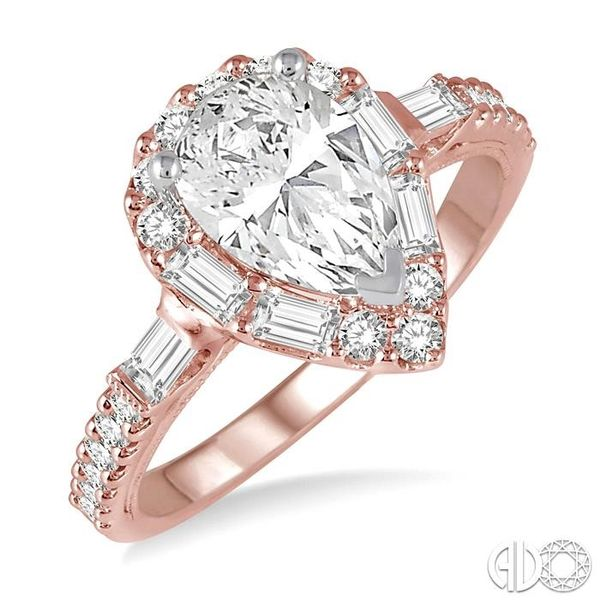 5/8 Ctw Diamond Semi-mount Engagement Ring in 14K Rose and White Gold Becker's Jewelers Burlington, IA