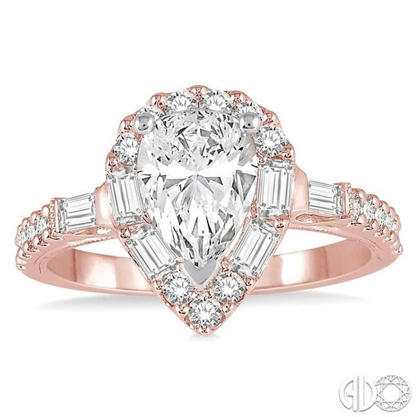 5/8 Ctw Diamond Semi-mount Engagement Ring in 14K Rose and White Gold Image 2 Becker's Jewelers Burlington, IA