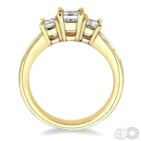 3 Ctw Nine Stone Princess Cut Diamond Engagement Ring in 14K Yellow Gold Image 3 Becker's Jewelers Burlington, IA