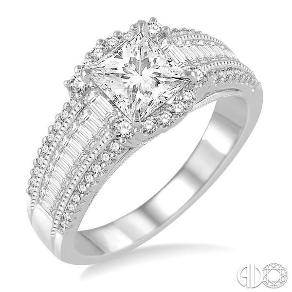 7/8 Ctw Diamond Semi-mount Engagement Ring in 14K White Gold Becker's Jewelers Burlington, IA