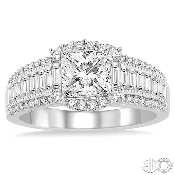 7/8 Ctw Diamond Semi-mount Engagement Ring in 14K White Gold Image 2 Becker's Jewelers Burlington, IA