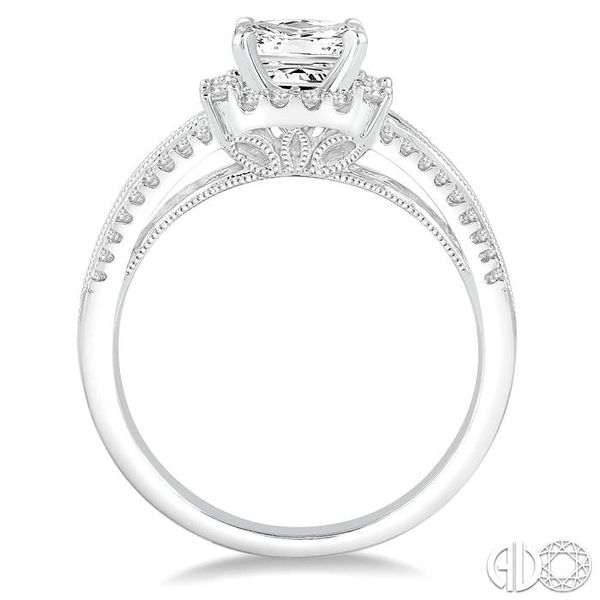 7/8 Ctw Diamond Semi-mount Engagement Ring in 14K White Gold Image 3 Becker's Jewelers Burlington, IA