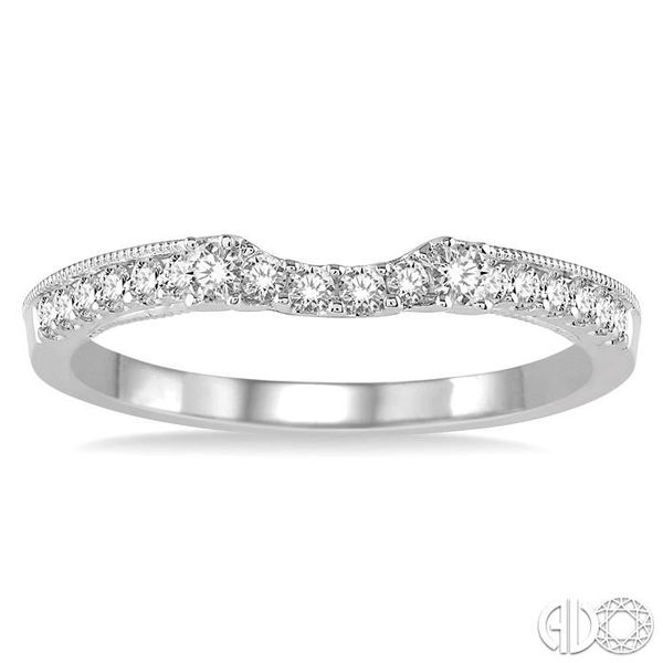 1/4 Ctw Round Cut Diamond Wedding Band in 14K White Gold Image 2 Becker's Jewelers Burlington, IA