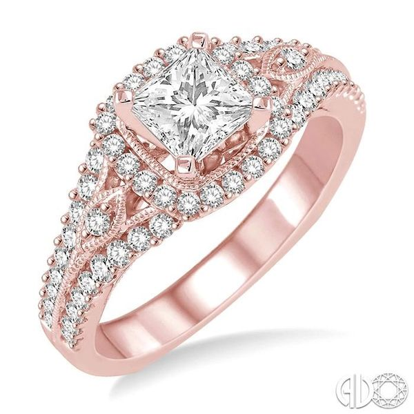 1/2 Ctw Diamond Semi-mount Engagement Ring in 14K Rose Gold Becker's Jewelers Burlington, IA