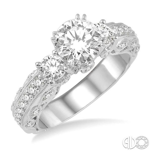 3/4 Ctw Diamond Semi-Mount Engagement Ring in 14K White Gold Becker's Jewelers Burlington, IA