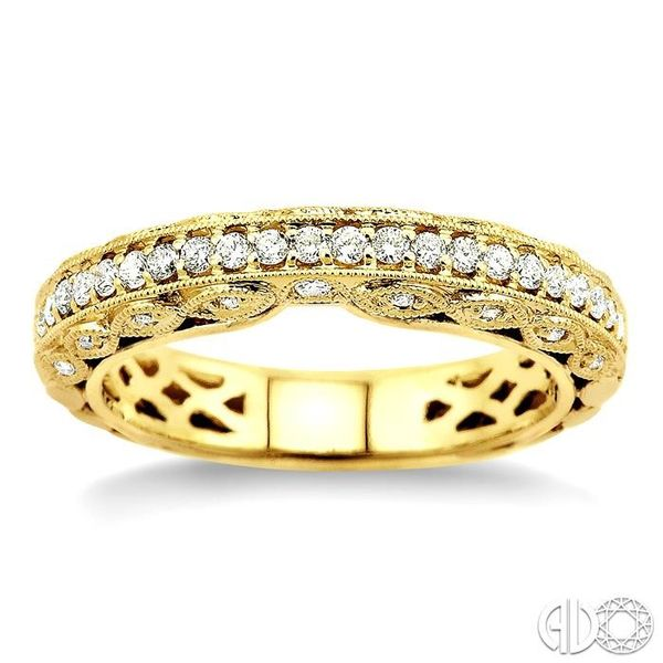 3/8 Ctw Diamond Matching Wedding Band in 14K Yellow Gold Image 2 Becker's Jewelers Burlington, IA