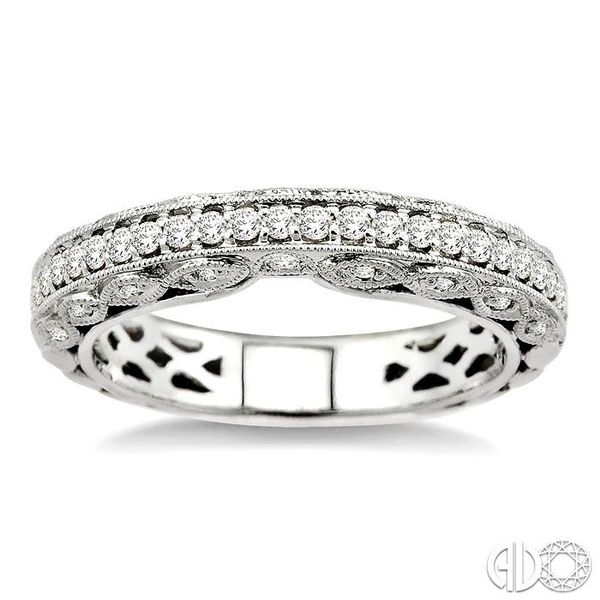 3/8 Ctw Diamond Matching Wedding Band in 14K White Gold Image 2 Becker's Jewelers Burlington, IA